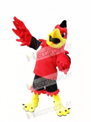 Red Hawk Mascot Costume Mo the Falcon Mascot Costumes