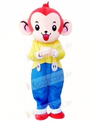 Monkey in Blue Overalls Mascot Costumes Animal