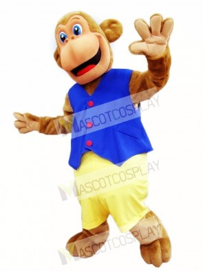 Blue Vest Monkey Mascot Costumes Animal