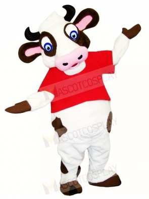 Blue Eyes Cow Mascot Costumes Farm Animal