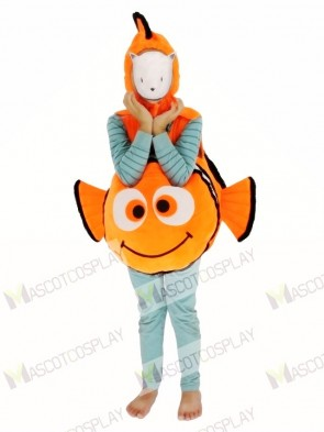 Child Halloween Finding Nemo Clown Fish Carry Me Mascot Costume Christmas Xmas