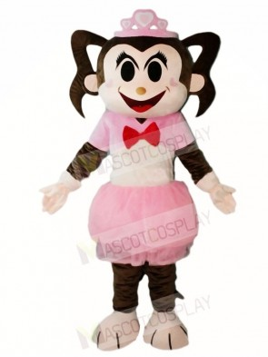 Pink Dress Monkey Girl Mascot Costumes Animal