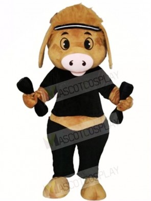 Pig with Dumbbell Mascot Costumes Animal