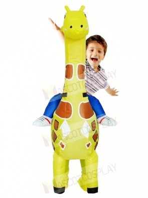 Giraffe Carry me on Christmas Inflatable Halloween Xmas Costumes for Kids