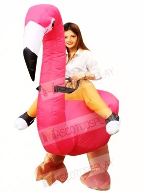 Flamingo Carry me Ride on Inflatable Halloween Xmas Costumes for Adults
