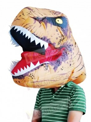 Jurassic World Inflatable Dinosaur Tyrannosaurus Rex Mask Headgear Only Halloween Christmas Xmas