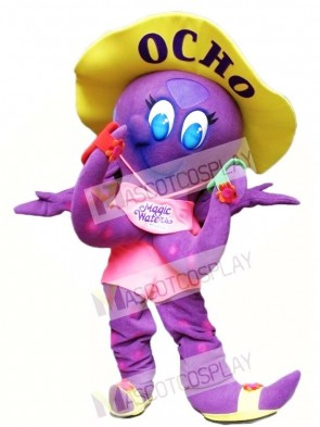 Purple Octopus Mascot Costumes Ocean