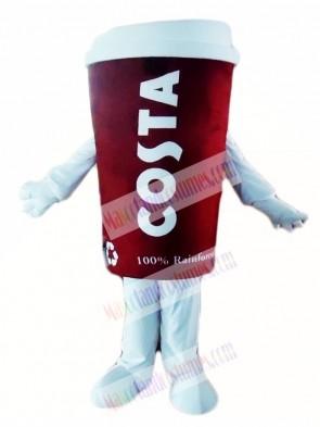 Hot Sale Costa Coffee Cup Tumbler Mug Mascot Costumes