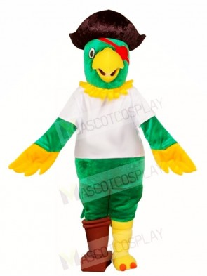 Green Pirate Parrot Mascot Costumes Bird Animal