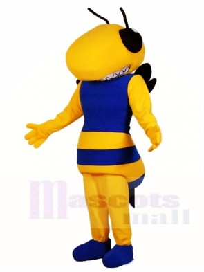 Royal Blue and Yellow Hornet Bee Mascot Costumes Insect