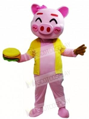 Pink Happy Pig Mascot Costumes Animal