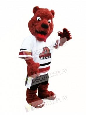 Rust Red Bear Mascot Costume Postdam Bears Mascot Costume