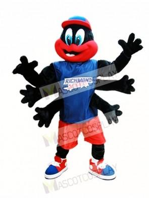 Black Spider Mascot Costume Richmond Spiders Mascot Costumes