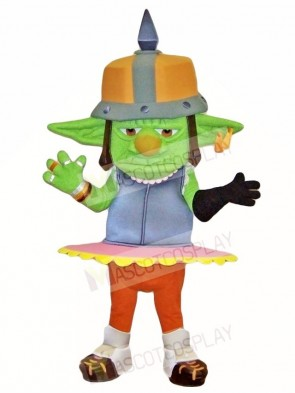 Green Goblin Mascot Costumes Monster