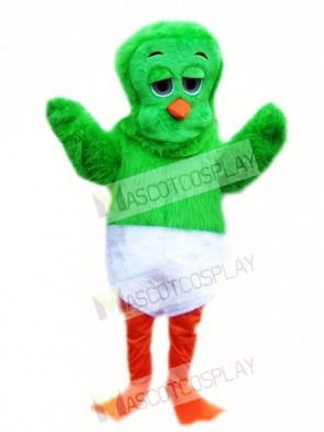 Green 80's Orville the Duck Mascot Costume