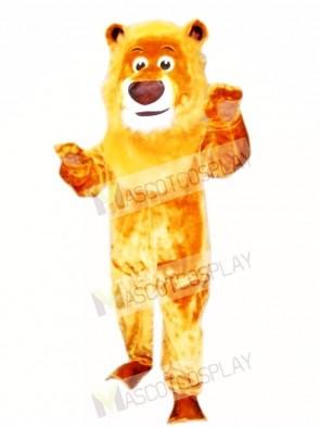 Realistic Animal Male Lion Mascot Costume