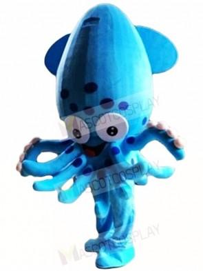 Blue Squid Fish Aquarium Mascot Costumes