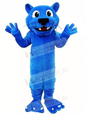 Blue Leopard Mascot Costumes Animal