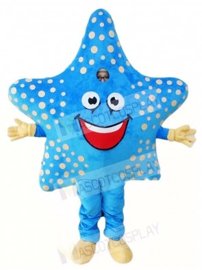 Blue Starfish Mascot Costumes Sea Ocean