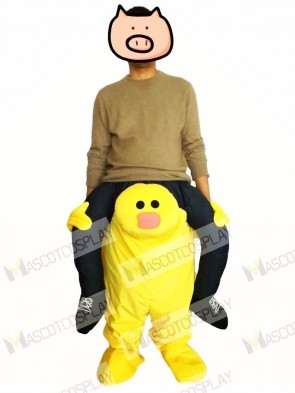 Piggyback Carry Me Ride on Yellow Sally Chick Mascot Costume Line Friends Town