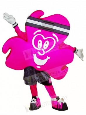 Magenta Shamrock Mascot Costumes