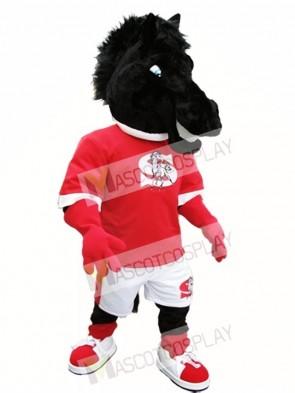 Black Horse Mascot Costume Black Mustang Mascot Costumes