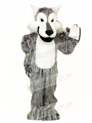 Hairy Grey Gray Wolf Mascot Costumes Animal