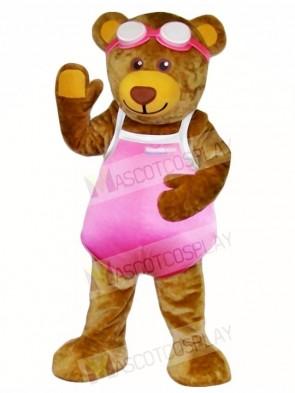Bear in Pink Swimwear Mascot Costumes Animal