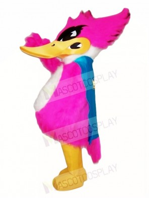 Pink Thrush Mascot Costumes Bird Animal