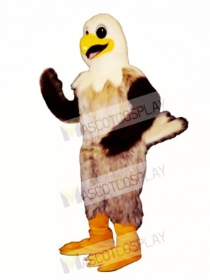 Cute Happy Hawk Mascot Costume