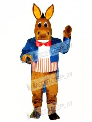 Cute Patriotic Donkey Mascot Costume