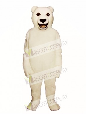 Cute Snarling Polar Bear Mascot Costume