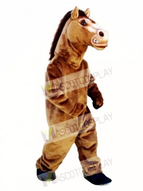 Cute Fierce Stallion Horse Mascot Costume