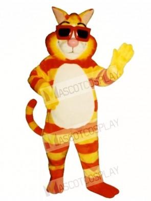 Cute Kool Cat Mascot Costume