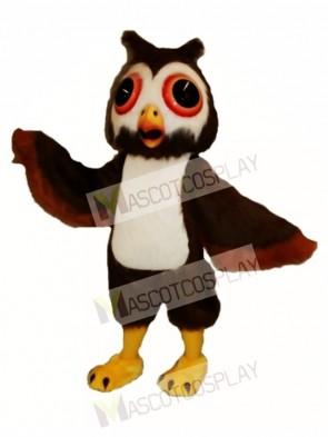 Cute Oliver Owl Mascot Costume