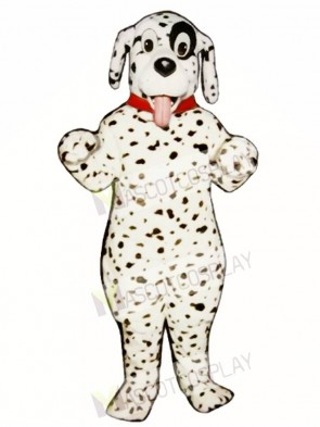 Cute Dalmatian Dog With Collar Mascot Costume