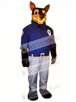 Cute Officer Doberman Dog Mascot Costume