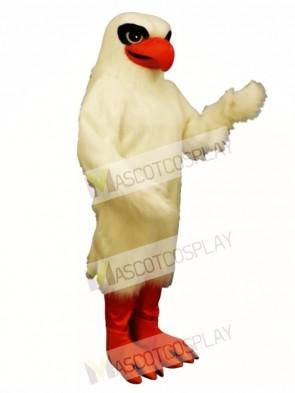 Cute White Hawk Mascot Costume