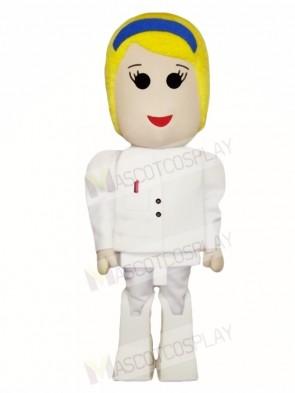 Blonde Girl Mascot Costumes