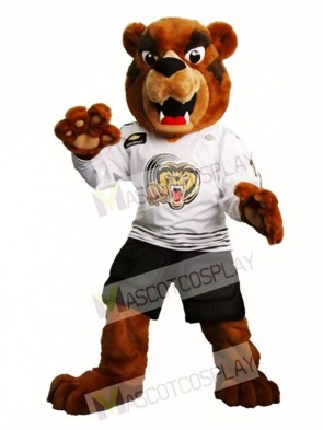 Fierce Brown Bear Mascot Costume Grizzlies Mascot Costumes