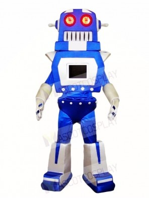 Blue and Silver Robert Mascot Costumes