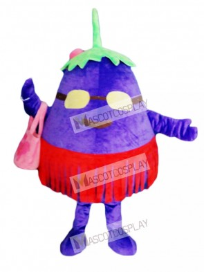Purple Eggplant Mother Vegetable Mascot Costume