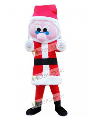 Blue Glasses Father Christmas Santa Claus Xmas Mascot Costume