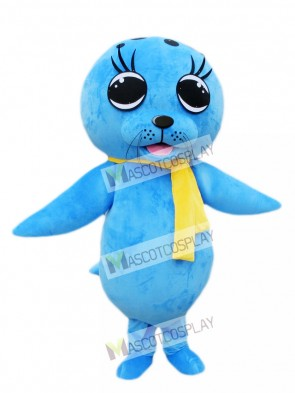 Blue Sea Lion Seal Mascot Costume