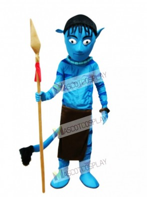 Blue Alien Appa Avatar Mascot Costume