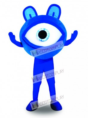 Blue Eye Glasses Sight Protection Advertising Mascot Costume