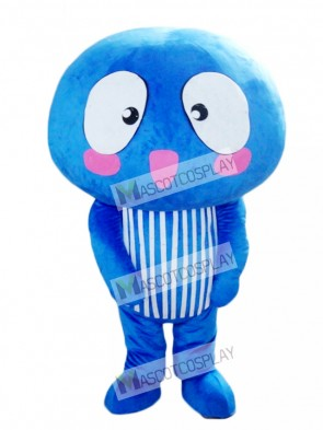 Blue Mushroom Vegetable Mascot Costume Food Plant