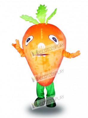 Orange Carrot Vegetable Mascot Costume Food Vegetable