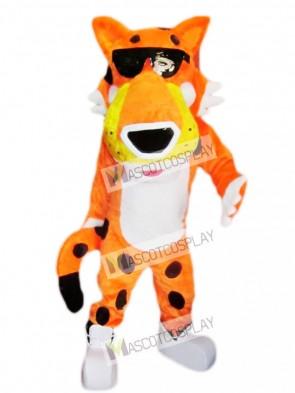 Orange Chester Cheetah Mascot Costume