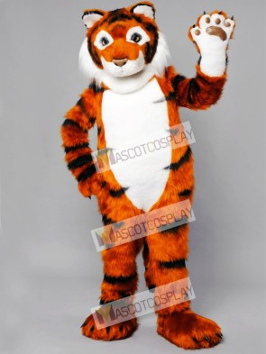 Friendly Tiger Mascot Adult Costume